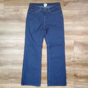 LL Bean Straight Leg Jeans Size 8 Reg